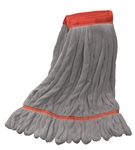 Microfiber Wet Mop | Looped End | Gray Large Wide Band
