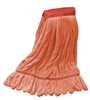 Microfiber Wet Mop - Orange Large Wide