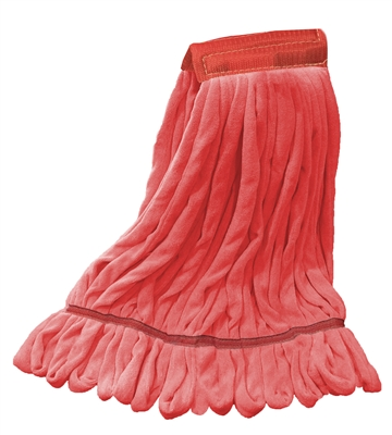 Microfiber Wet Mop - Red - Large 5 Inch Band