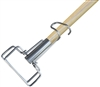 Wet Mop Handle - Wood - Wire Clamp