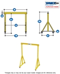 1A1012  - Spanco Steel Gantry - Adjustable Height