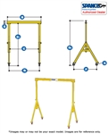 1A1515  - Spanco Steel Gantry - Adjustable Height