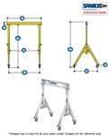 1ALU1210  - Spanco Aluminum Gantry - Adjustable Height