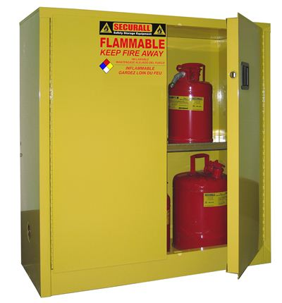 Flammable Storage Cabinet Self-Latch Standard 2-Door  sc 1 st  Lista & A130 - Securall 30 Gal. Flammable Storage Cabinet Self-Latch ...