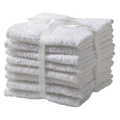 Economy Wash Cloth 12X12 1 LB WHITE - PKG of 24