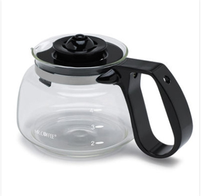 Mr. Coffee® Universal Glass 4-Cup Carafe Black - Casepack