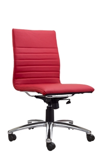 Modena Armless Red Task Chair