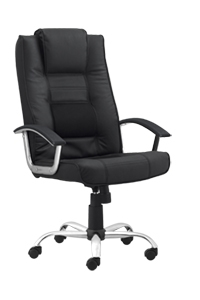 Milan II Black Leather Task Chair