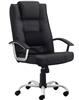 Milan Black Leather Task Chair