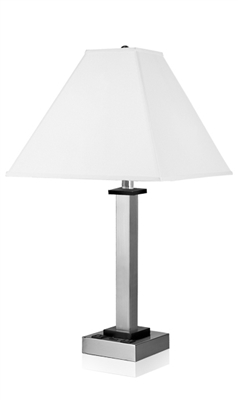 Andaaz Single Table Lamp with 2 Outlets