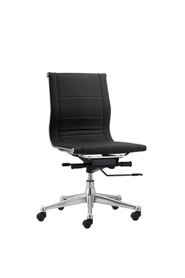 Florence Mid Back Task Chair Black without Arms