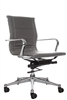 Florence Mid Back Task Chair Gray with Metal Arms
