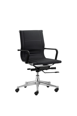 Florence Mid Back Task Chair with Soft Arms - Black