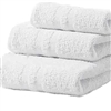 Deluxe Hotel Hand Towels 16x27 3 lb  86/14 Cotton Blend with Double Cam Border