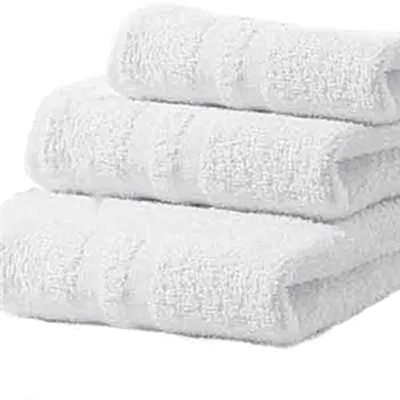Deluxe Hotel Hand Towels 16x27 3 lb  86/14 Cotton Blend with Cam Border