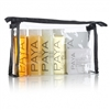 PAYA Bottle & Soap Amenity Kit, clear vinyl bag with black sewn trim & black zipper - 4 Bags