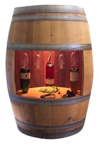 Superb Full Wine Barrel Cabinet W/ Light