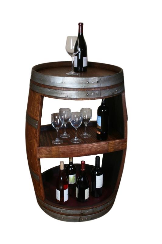 Double Sided Wine Barrel Cabinet