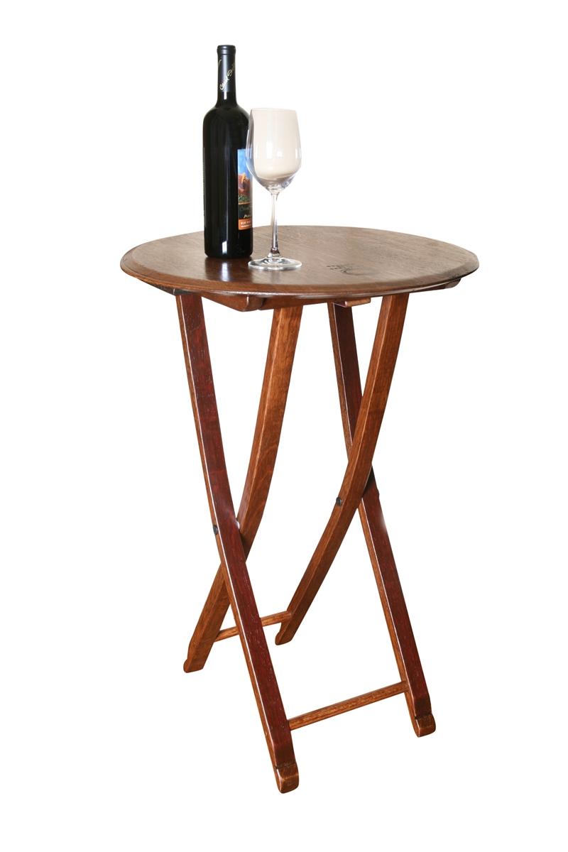 Folding Wine Barrel Bistro Table Go Wine Barrels