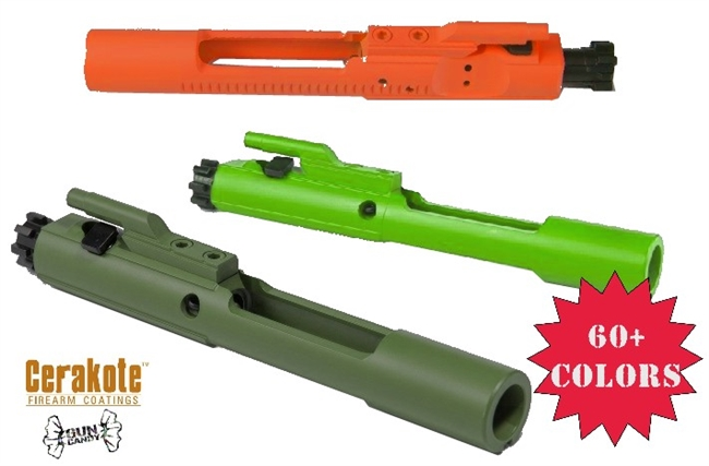 AR-15 Bolt Carrier Group .224 Valkyrie Complete -COLOR CHOICE - Shown in Hunter Orange, Zombie Green and OD Green