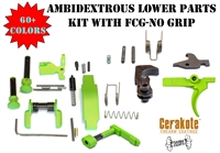 Ambidextrous Lower Parts Kit With FCG No Grip