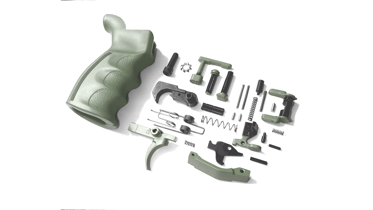 Choose Your H-Series Cerakote Color Ambidextrous Complete Lower Parts Kit -  Shown Here in NRA Blue