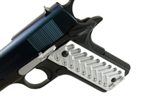 A&A Lightweight  Silver Anodized Aluminum 1911 Grips Fit Gov. and Clones