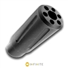 INFINITE 5/8-24 RH Halestorm Spiral Pulse Fluted Muzzle Brake - Stainless (Black)