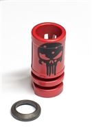 Birdcage Muzzle Device with Black Punisher-COLOR CHOICE