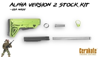 Alpha Stock MK2 - Color Options - Shown here in