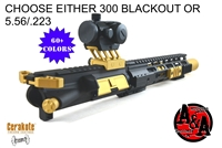 "AR 15 10.5"" Upper Assembly ""The Outlaw""-300 Blackout or 5.56/.223 choice-COLOR OPTIONS"