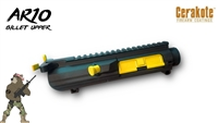AA AR10 / .308 Black Anodized Upper Receiver with Cerakote Upper Parts - Shown here in Corvette Yellow