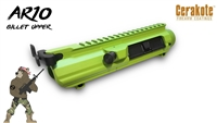 AA AR10 / .308 Cerakote Upper Receiver with Black Anodized Upper Parts - Shown here in Zombie Green