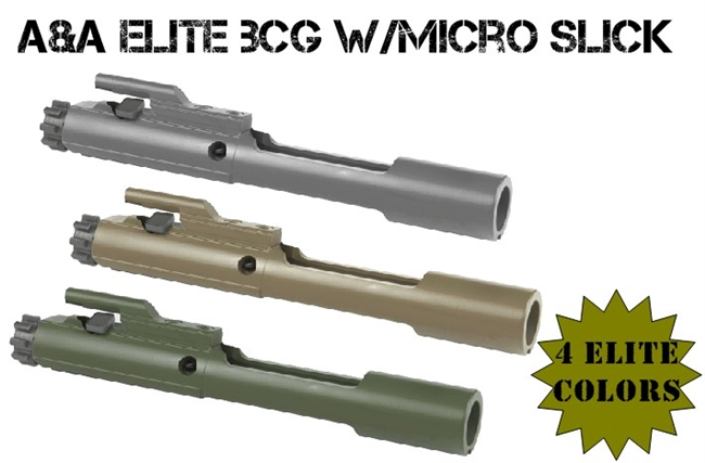 A&A Elite Bolt Carrier Group .223/5.56/300 with Micro Slick Bolt