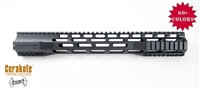 "A&A Slim MLOK Free Float Clamp On Quad Rail Hand Guard/Rail 15"" - Available in 60+ Colors"