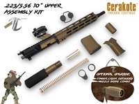 "AA Edition 1 - AR15 .223/5.56 10"" Upper Assembly Kit - Shown here in Burnt Bronze"