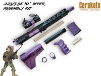 "AA Edition 2 - AR15 .223/5.56 10"" Upper Assembly Kit - Shown here in Bright Purple"