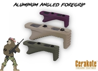 ALUMINUM ANGLED GRIP FOR KEYMOD SYSTEM - Choose your color - Shown here in OD Green, FDE, and Black Cherry Cerakote