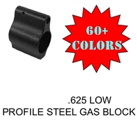 AR15 STEEL LOW PROFILE GAS BLOCK (.625)-COLOR CHOICE