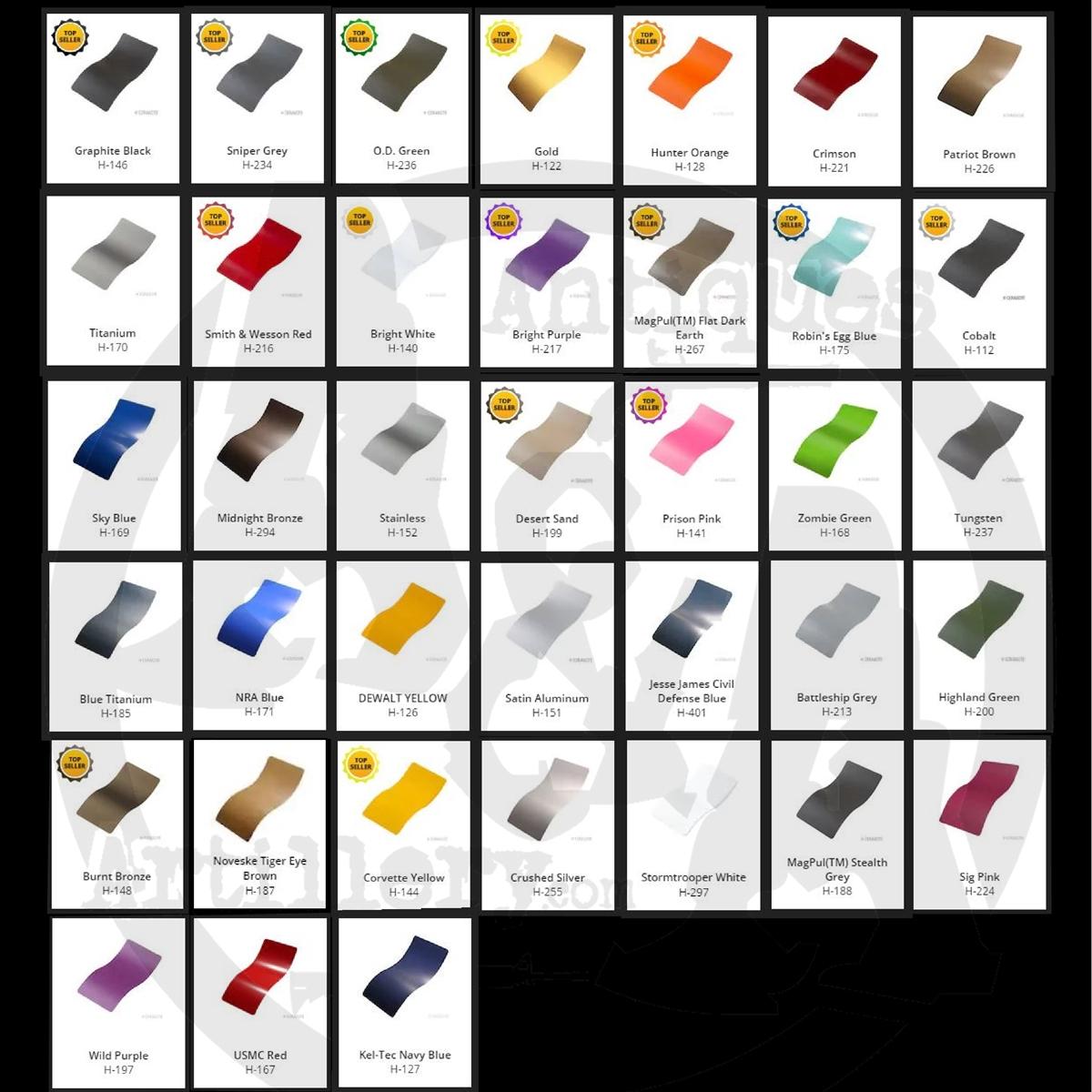 AR 10Lower Parts Kit-Minus Grip and FCG-Color Choice