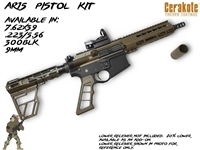 "AR15 7.5"" Pistol Build Kit- Multiple Calibers Available- Your Color"