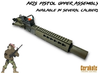 "AR15 7.5"" Pistol Upper Assembly- Multiple Calibers Available- Your Color- Shown Here In OD Green"
