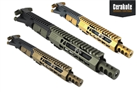 "Spartan 300 Blackout - 7.5"" Free Float Upper Assembly - In Your Choice of Color - Shown here in Gold, OD Green, Burnt Bronze"