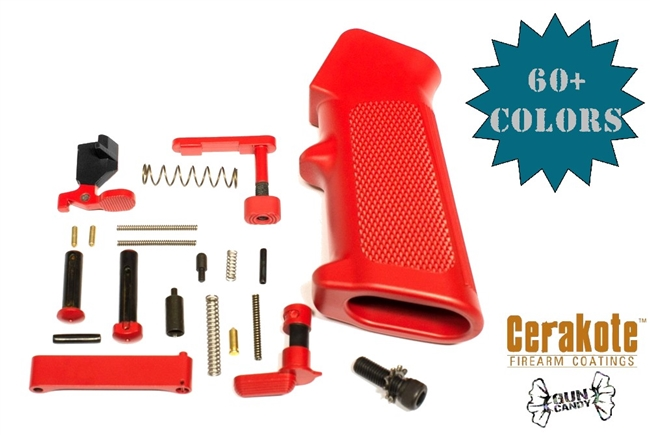 Lower Parts Kit Minus FCG in Your Choice of H-Series Cerakote Color