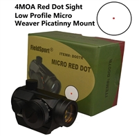FieldSport Micro Red Dot Sight, Precision Red Dot