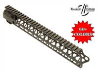 TIMBER CREEK ENFORCER 15 INCH HAND GUARD-MLOK Cerakote or Gun Candy COLOR CHOICE