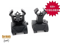 A&A AR Front & Rear Same Plane Flip-Up Iron Sights, Pair, COLOR CHOICE