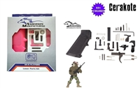Anderson Lower Parts Kit with Pistol Grip; Milspec, AR15 - Your Choice of Cerakote Color