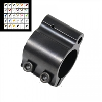 AR15 STEEL LOW PROFILE CLAMP ON GAS BLOCK-COLOR CHOICE- (GEN 2)