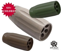 Kaw Valley Precision KVP LINEAR COMP 5/8x24 tpi (45 acp,40 s&w,10mm) - Choose A Color - Shown Here In OD Green, Magpul FDE, and Patriot Brown